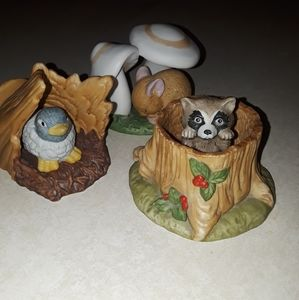 Woodland Surprises Hand Painted Figurines
